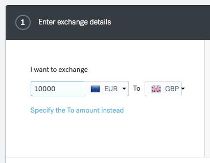 CurrencyFair Exchange Details
