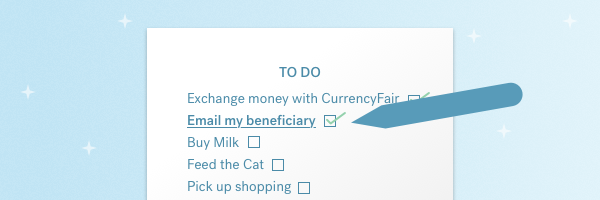 New CurrencyFair feature: Beneficiary Emails