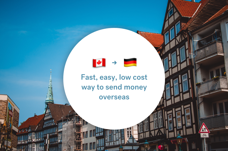 The best way to send money between Canada and Germany