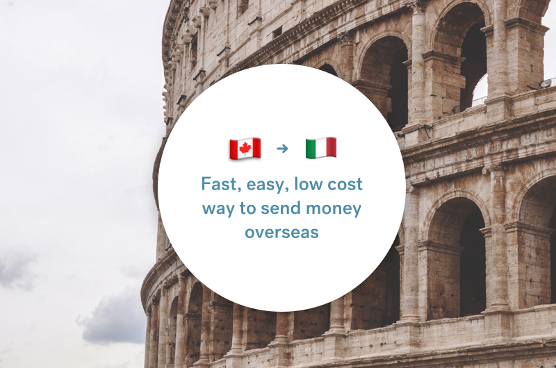 The best way to send money between Canada and Italy