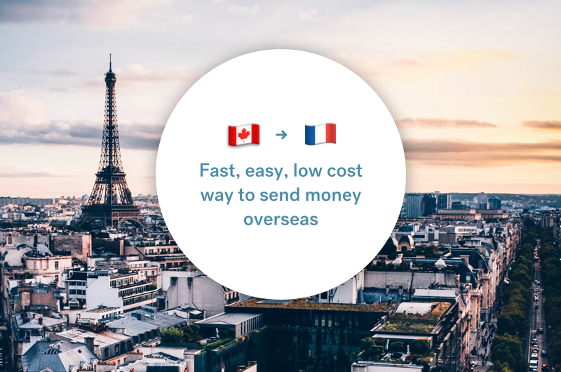 The best way to send money between Canada and France
