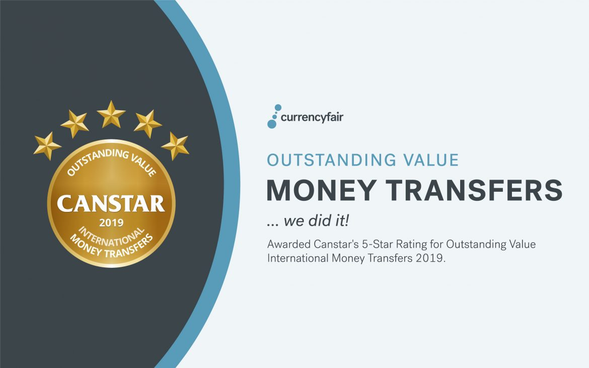 CurrencyFair Wins 5-Star Rating from Canstar