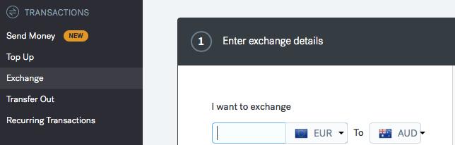 CurrencyFair Exchange Dashboard