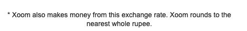 Xoom margin disclaimer