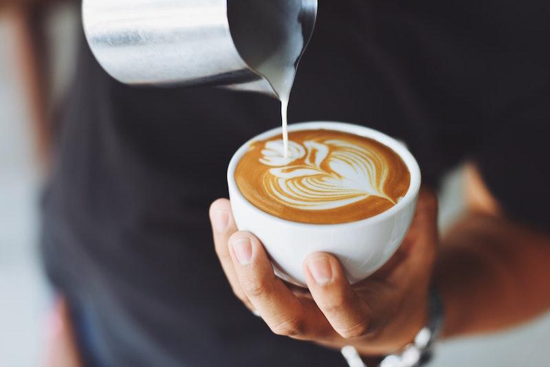 coffee art overhead shot