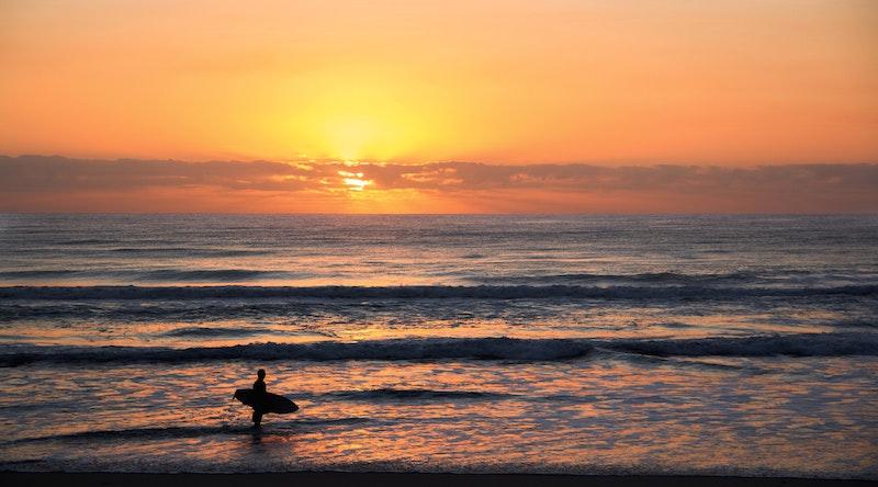 backlit beach Australia