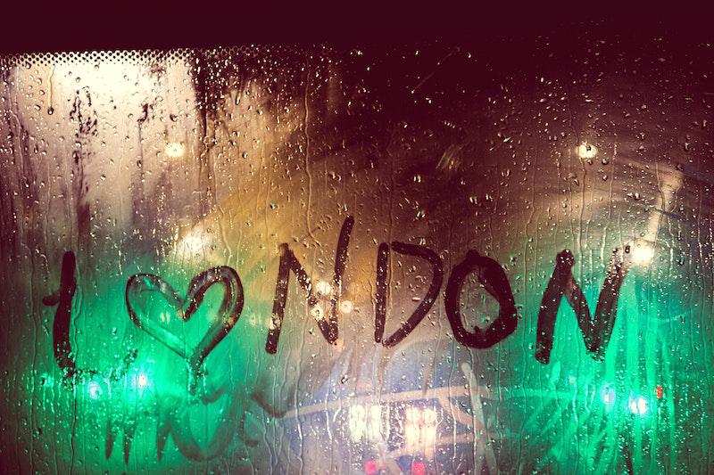 london written on window