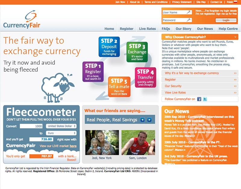 2010 CurrencyFair Website