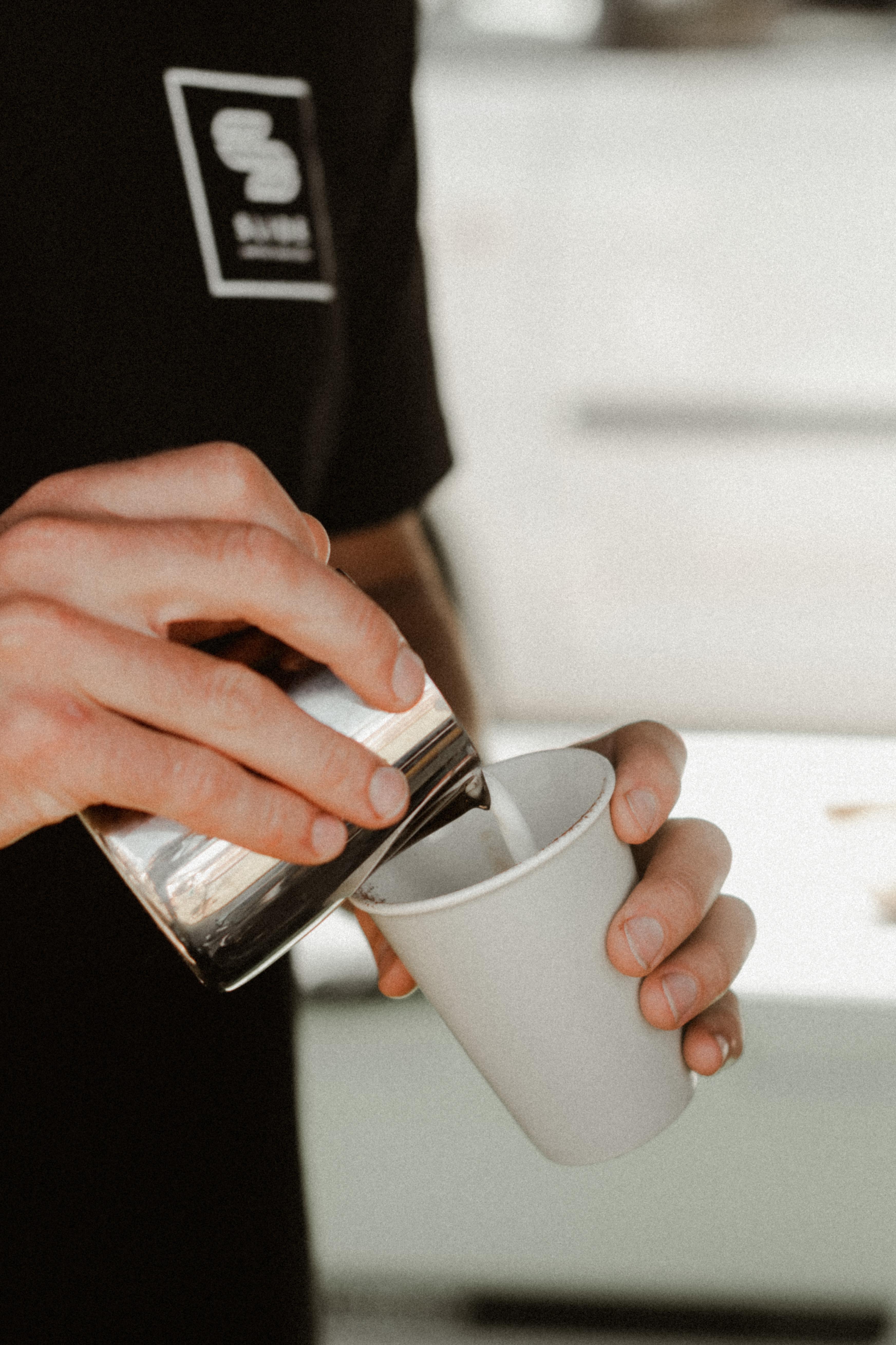 Slide coffee roasters making coffee