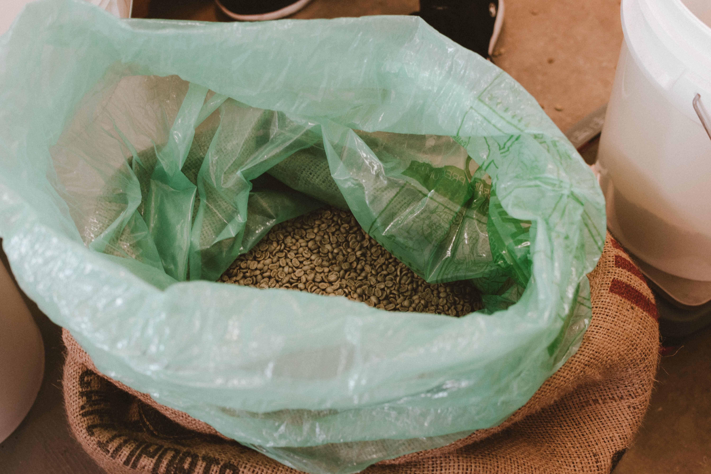 Slide roasters coffee in bag