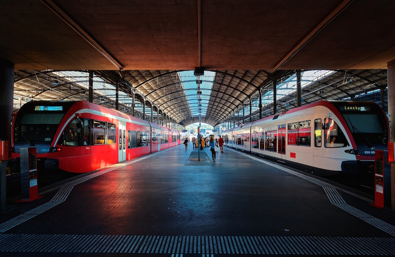 swiss train station