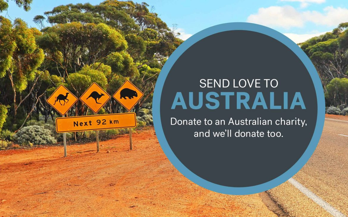 Donate to an Australian charity, and we'll donate too